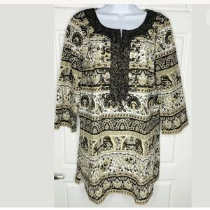 Calypso st Barth tunic top elephant print